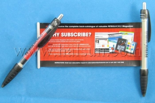 Flag Pens,pens with pull out information,HSBANNER-9