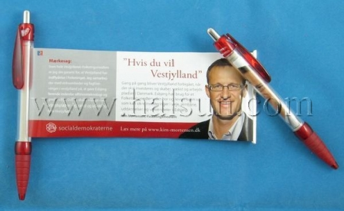 Political Election Pen,Political Campain Pen,Pen with pull out image, HSBANNER-9