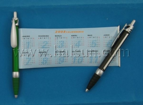pen with pull out calendar,HSBANNER-9PS