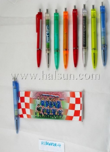 scroll banner pens, custom banner pens,HSBANNER-4_COLORS