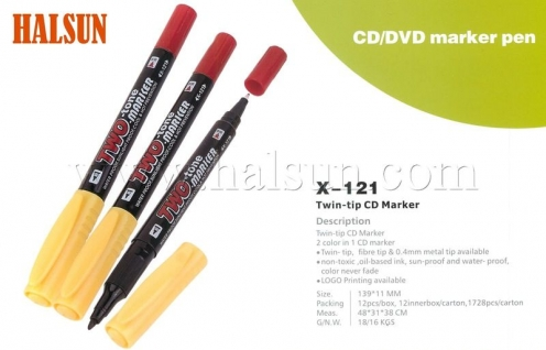 Dual Tip CD DVD Marker,two color CD marker,HSZCX-121