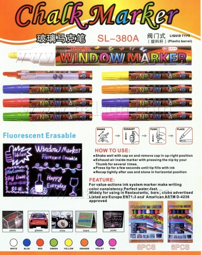 Chalk Marker,Flourescent Erasable