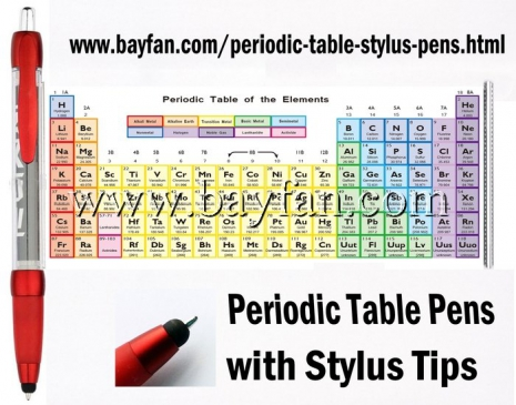 Periodic Table Stylus Pens