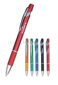Promotional Ball Pens,HSBFA5276A,Metallic Paint barrel, black Aluminum grip