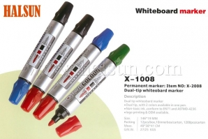 Dual Tip Two Color Whiteboard Marker,HSZCX-1008