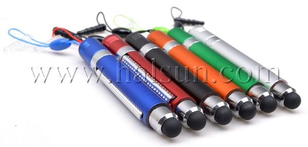mini touchscreen banner stylus, 6 color barrel