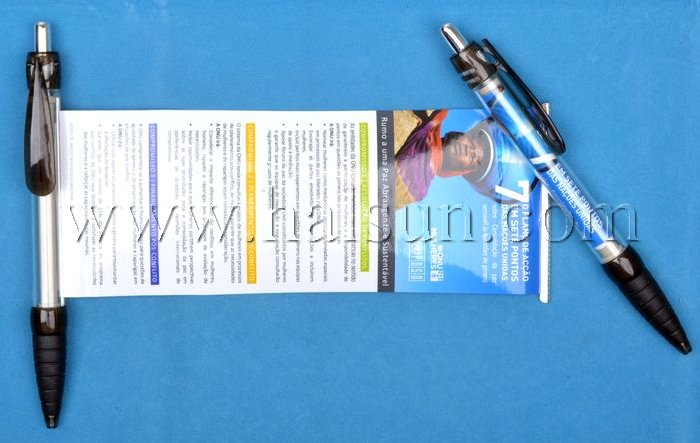 Flag Pens,Banner Pens,Scroll Pens,promotional customized retractable pull out pens