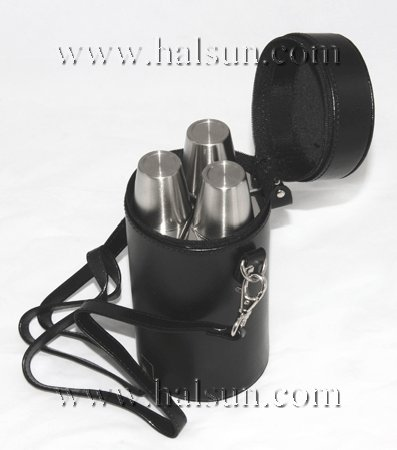 triple flask & cup gift set