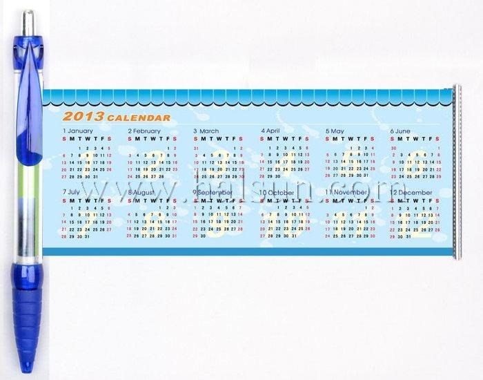 calendar pens,custom printed calendar pens,2013-2014 calendar pens,banner calendar pens,scroll calendar pens,flag calendar pens
