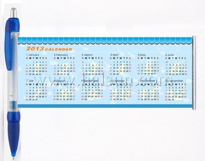 pens with calendar inside,calendar pens,banner calendar pens