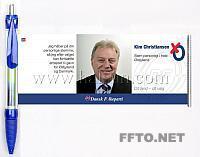 Bannerpen or Flyerpen | trek pennen, agenda pen, roll-out pennen, politieke pennen, verkiezing pennen, politieke-campagne pennen